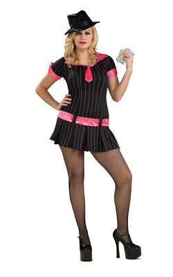 GUN MOLL GANGSTER PLUS SIZE GANGSTA MAFIA MOBSTER WOMENS HALLOWEEN - Gangster Moll Halloween Costumes