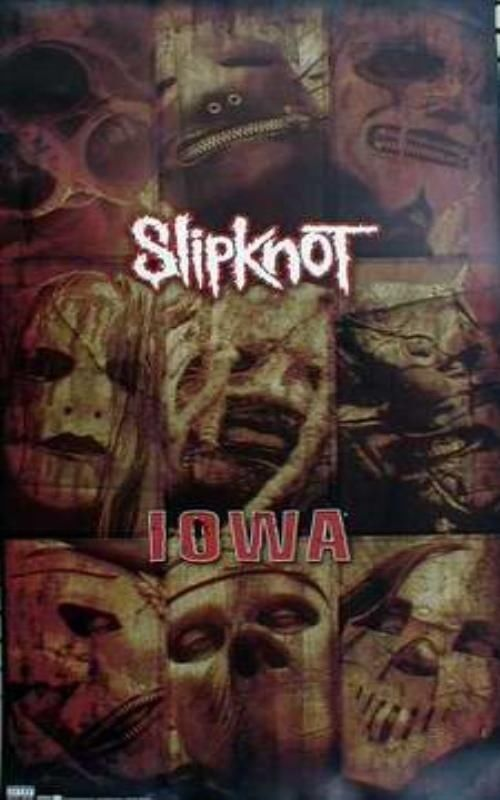 SLIPKNOT 2001 IOWA long promotional poster New Old Stock Flawless Condition