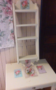 Table and Matching Shelf
