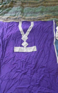Large Purple African Caftan Style Dress / Gown