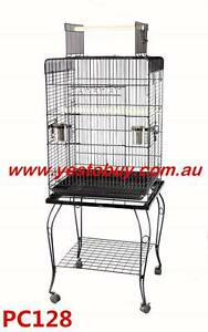Pet Bird Cage Parrot Budgie Canary Aviary Open Roof with Wheel Mordialloc Kingston Area Preview