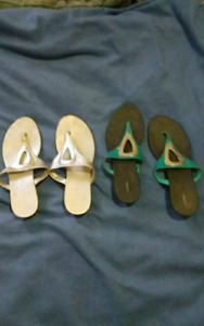 2 pairs of size 9 sandals