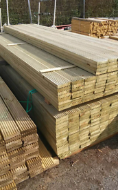 Timber Decking. From £7.50 per length