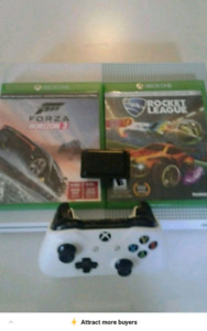 $245 Xbox one s 1 controller 2 games charging pod and xbox live
