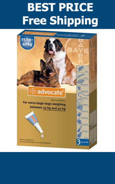 Advocate For Dogs Over 25kg Large Dogs 3 Pack Flea and Lice Treatment EXP 2018