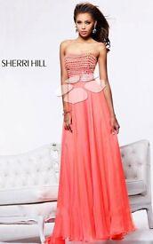 Sherri Hill Coral Prom Dress - US size 2 /UK6 (product code 1539)