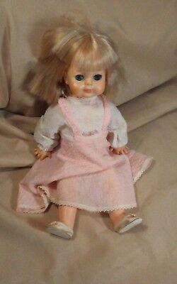 "Vintage 1965 VOGUE 15"" Baby Doll Sleep Eyes Straight Legs Original Dress & Shoes"