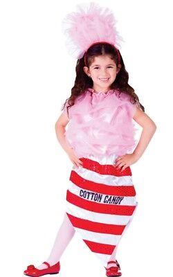 Dress Up America Girls Kids Cotton Candy Costume Size T2-L Candy Dress Up