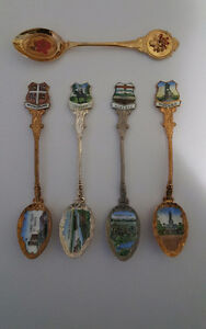 LOT OF 5 VINTAGE LESS COMMON COLLECTIBLE SPOONS