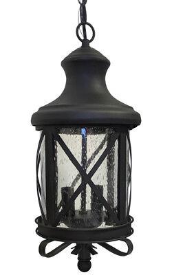Aluminum Outdoor Exterior Lantern Ceiling Hanging Lighting Fixture Black Sconce
