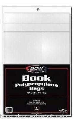 25 (Twenty five) BCW 10 x 13 Book Bags Holders Sleeves