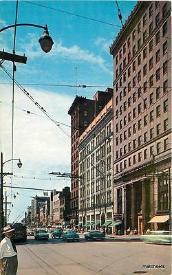 1950S Youngstown Ohio West Federal Street Autos Buses Colorpicture 11492