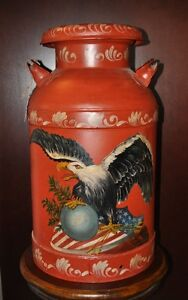 Vintage Painted Cream Can
