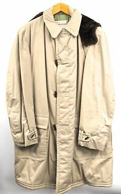 VTG 1960s Mcgregor Coat Mens Science In Fashion Tan Duffle Toggle  Xl 44L Puffer