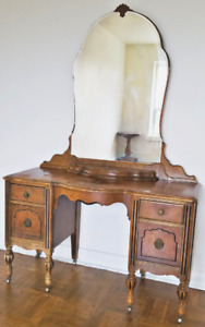 Antique make up vanity.  Early 19th century elegant design.