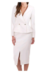 Ted Baker Silaa Double Breasted Peplum Jacket & Skirt Suit