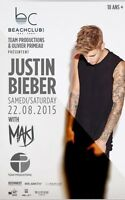 Justin bieber beach club VIP Section (Valeur 175$)