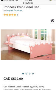 See pic! Princess Crown TWIN SIZED full bed