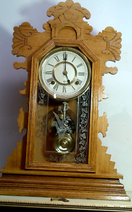 superbe horloge antique clock  Ansonia Belmont 1890-1894