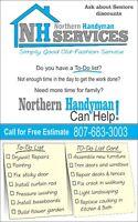 Northern Handyman Services - Home Improvements & Maintenance