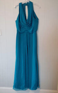 Oasis long bridesmaid gown from David's Bridal