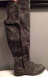 Spring Brand Grey Boots Size 6
