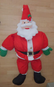 5ft tall stuffed Santa in very good, clean condition