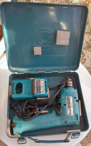 Makita drill, reciprocal saw, charger, battery and case ONLY $40