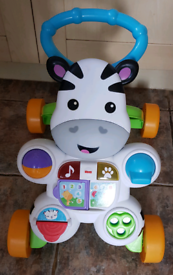 Zebra baby walker lights flash and plays music £8 smoke and pet free h