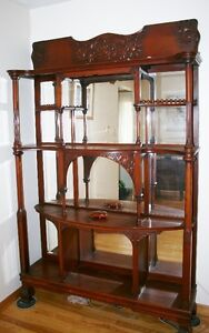 Curio Cabinet with Beveled Mirrors