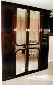6ft Mahogany Lacquer Armoire