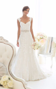Beautiful Lace Fit and Flare wedding gown