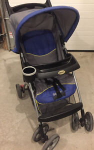 Safety first single stroller with tray