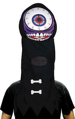 Alien One Äugig Lila People Eater Riese Augapfel Kopfbedeckung Maske Kostüm