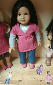 American girl doll JLY Asian long dark hair