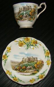 Hand painted English cup and saucer