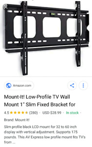 """T.V. Wall mount for 32""""- 60"""" ."""