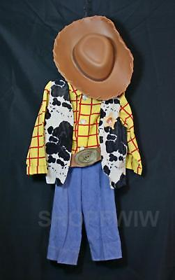 Disney Store Toy Story Woody 5-pc Sheriff Halloween Costume With Treat Bag 8/10](Toy Story Halloween Bag)
