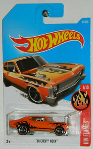 Hot Wheels 1/64 '68 Chevy Nova Diecast Car Orange