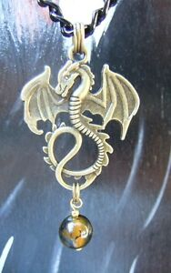 New Dragon, Wolf Pendant with Gemstone & Anime Necklaces