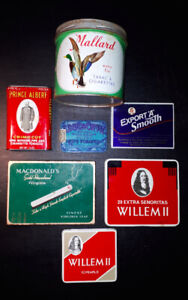 7 Assorted Cigarette Tins Collection