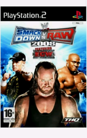 WWE SmackDown vs. Raw 2008 Video Game Sony PlayStation 2 PS2