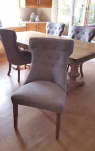 Brand New Upholstered Dining Chairs - Set of 4