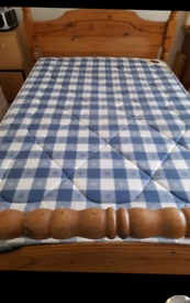 Pine wood Double bed frame in good condition