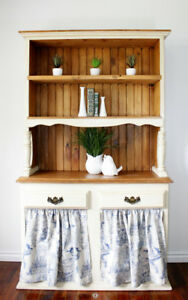 2 Piece Farmhouse Hutch