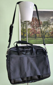 New Arrow Canvas & Leather Laptop Tote Bag, Carry-on Briefcase