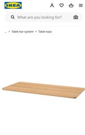 IKEA bamboo table top 140x65.bnib