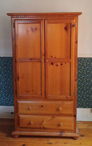 Solid wood pine armoire