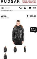 Brand New Men's XXL Rudsak Viper Jacket