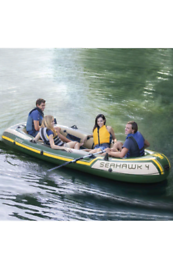 Inflatable boat and 2 stroke engine